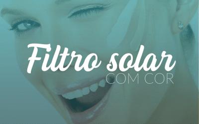 Filtro solar com cor