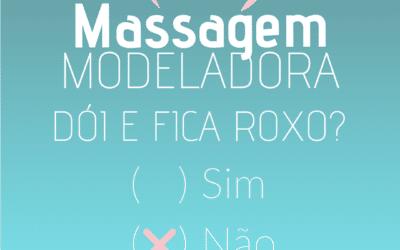 Massagem modeladora dói e fica roxo?