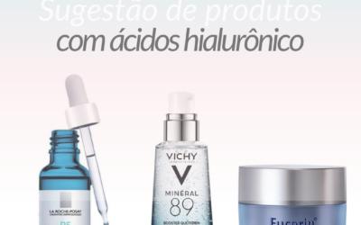 Sugestão de produtos com ácido Hialurônico